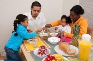 feeding children