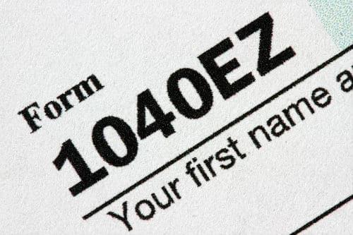 Tax Form 1040EZ
